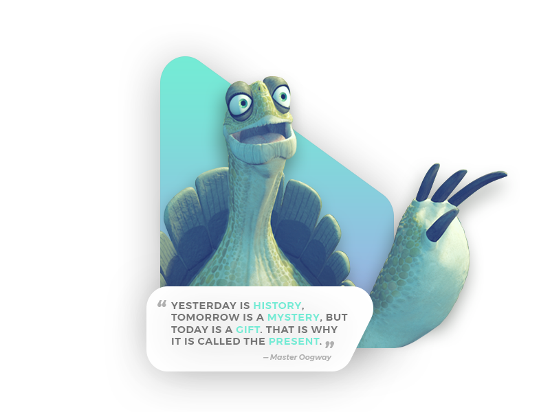 Quote Of The Day Kung Fu Panda By Mikus Kruze Dribbble Dribbble