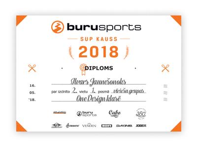 SUP CUP 2018 - Diploma