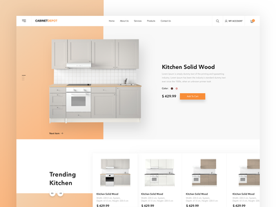 Cabinet Depot - Home Page page sketch website clean bathroom kitchen homepage web kopanlija simpe design ux ui cabinet