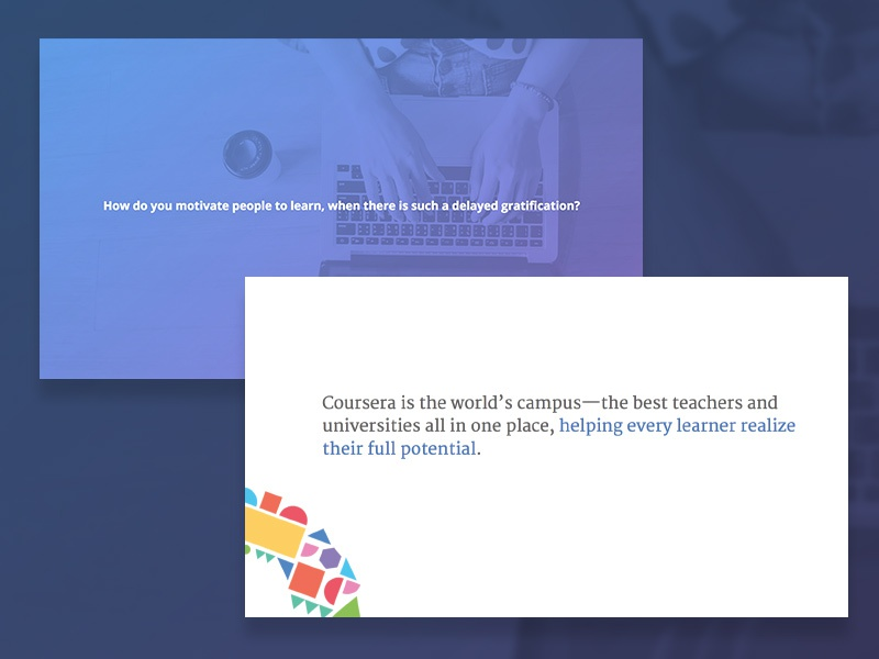 Slide Experiments by Sarah Lynch for Coursera on Dribbble