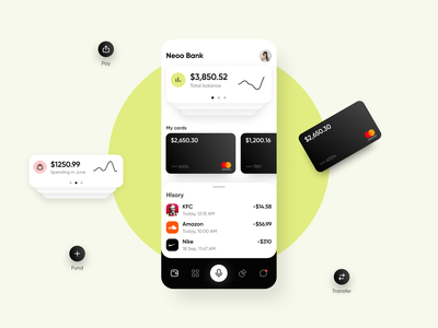 Neoo – Banking App online banking bank finance finance app mobile app mobile ios wallet banking app mobile banking
