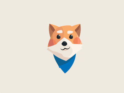 Such hello dog puppy shiba character illustration