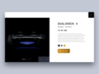 Product Page - Dualshock 4
