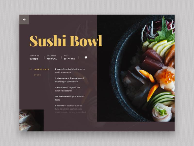 Sushi Recipe UI