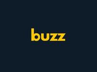 buzz electric icon electric bee buzz typography icon branding thirtylogos design logo