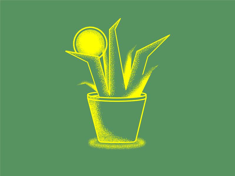 Snake Plant stipple duotone greenery noise grain snake plants texture illustration