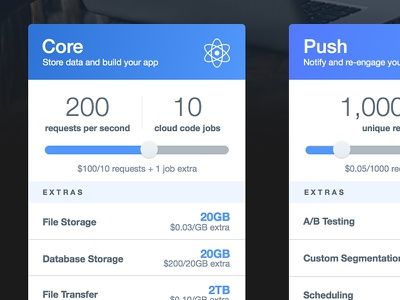 Parse Pricing pricing sliders parse cloud dolla dolla billz