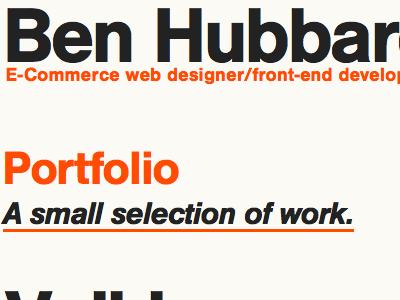 Portfolio re-design portfolio css html re-design