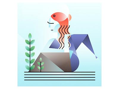 Mythological Creatures - The Siren color myth digitalart illustration siren