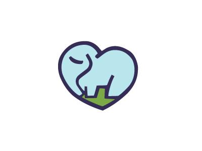 Elephant Lovers  animal heart love elephant