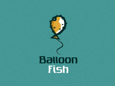 Balloon Fish  creature sea logo designer logo vector poison sushi fish balloon fugu