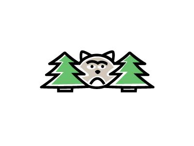 Wild Cat logo vector cartoon funny darkwood wood animal wild pine tree cat