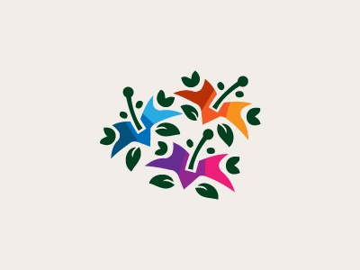 Our Flowers II freelance logo designer logo logo design vivid colorful magnolia flower flowers