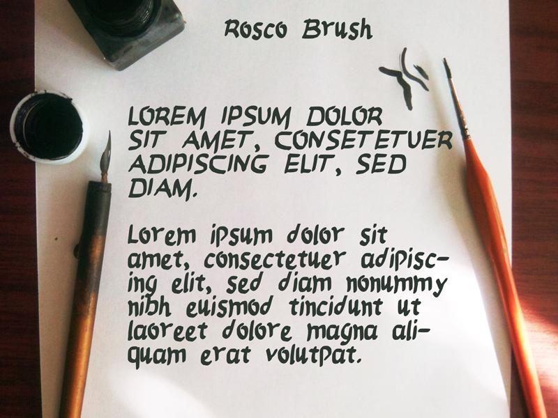 Rosco Brush - Free Font ink caligraphy typo trash free font brush