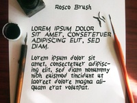 Rosco Brush - Free Font