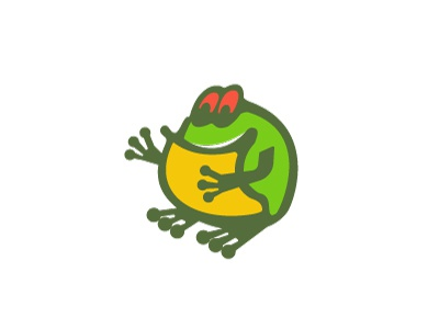 Frog jamaica illustration logo animal frog