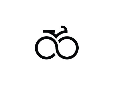 Infinite Cycling white black logo minimalistic track sport race infinite cycling cyclo