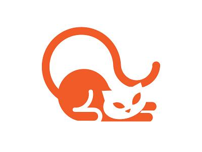 Cat 2 logodesigner brand logo pet animal orange cat