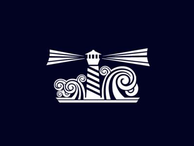 Light House illustration logo light help ocean storm light house sea