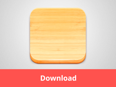 Wood Icon PSD