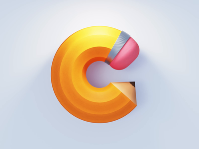 C Logo branding ios gif animation icon illustration art drawing logo 3d animation c4d coronarender 3d pencil