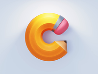 C Logo branding ios gif animation icon illustration art drawing logo 3d animation c4d coronarender 3d pencil
