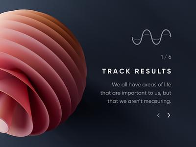Focus — Dark Landing Page tracking yoga meditation focus kit ui website modern red orange rose animation 3d landing dark