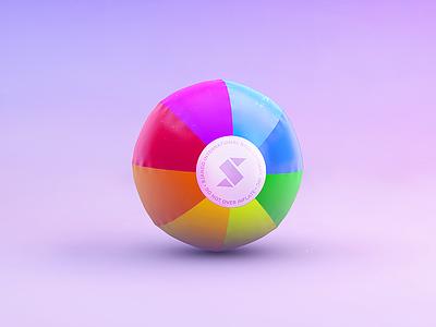 Skala Ball texture colorful icon baloon beach render 3d ball skala
