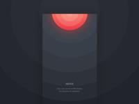 Dark UI - Welcome Screen