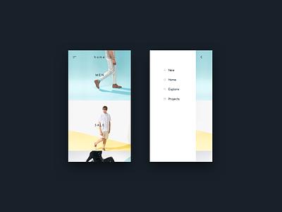 Sidebar Animation ui apple icons menu parallax flat ios iphone gif animation sidebar