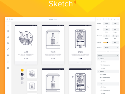 Sketch 4 App Concept grey design mobile app iphone ui light clean flat concept redesign sketch