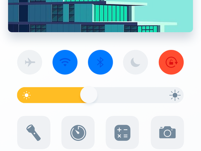 Control Center | Redesign Concept apple animation gif concept redesign iphone ios center control