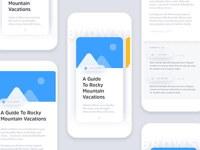Layerz App Kit template blog mockup blur 3d flat ui kit app