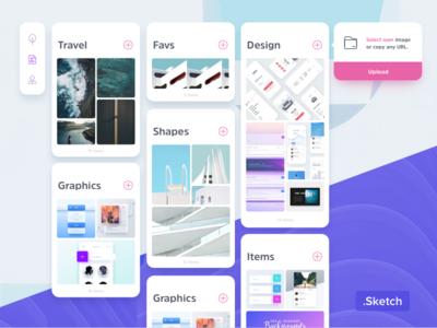 Freebie - Pinboard Web UI