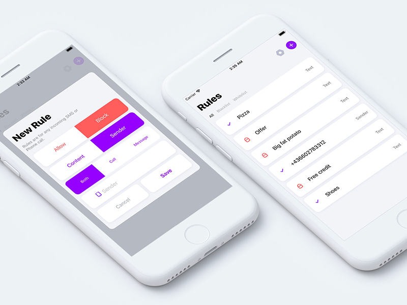 getFilter | AI-Powered SMS Spam Filtering mockup white block spamm iphone ios apple featured store app ai getfilter