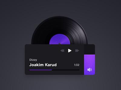 Vinyl Music Player purple concept web album ui widget player music vinyl