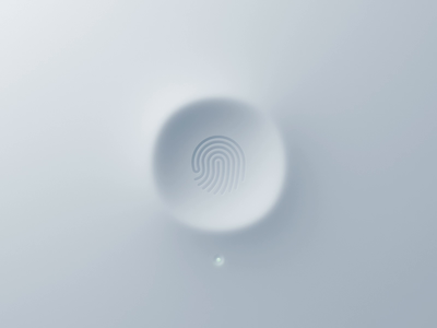 3D Fingerprint Scanner shadow neumorphic fingerprint scanner button switch ui gif animation 3d app apple iphone touchid ios led indicator
