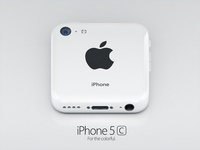 iPhone 5c white icon