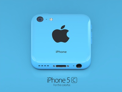 iPhone 5c blue icon