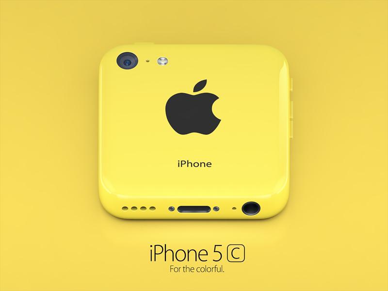 iPhone 5c yellow icon iphone 5c apple icon