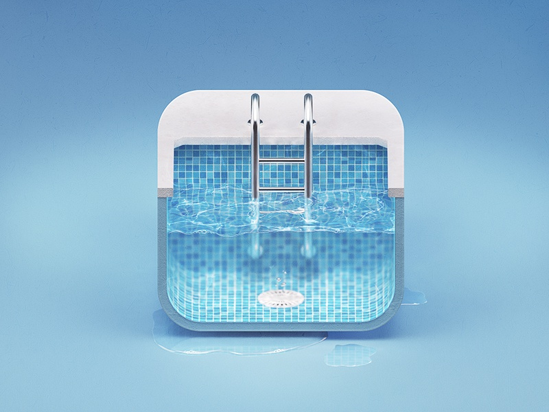 Pool ios icon by alexandr nohrin on dribbble for Pool design app