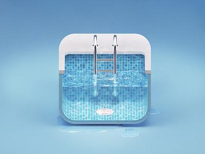 Pool iOS icon swimming pool icon ios water blue