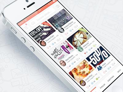 'Scout' home screen xploro scout ui design ios7 apple iphone orange white clean simple