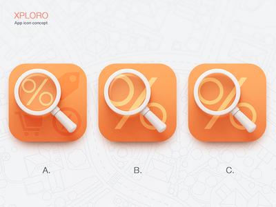 Xploro icon concepts icon ios7 xploro magnifier map search discount deal orange scout apple iphone