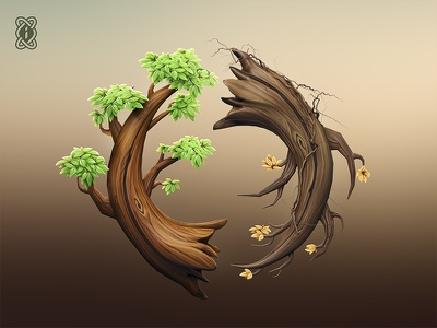 'Inversion' trees concept design inversion 3d tree