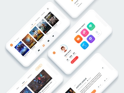 Gamecloud UI iphone apple minimalist ui ios app game cloud