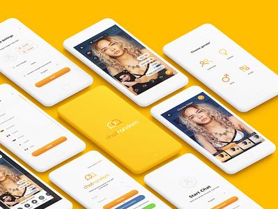 Chatrandom UI design iphone ios app ui deisgn app concept videochat chat