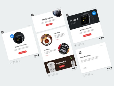 Email Templates design ui 99d template email 99designs
