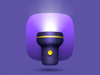 Flashlight icon concept