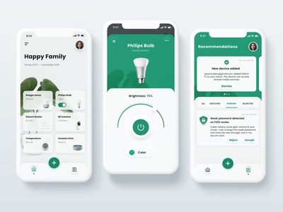 Smart Home App Concept clean design clean ui smart home smarthome minimalism neumorphism skeumorphism ios apple ui iphone